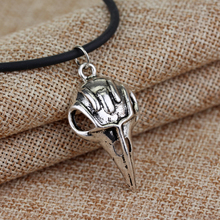 Vintage Silver Bird Skull Pendant Raven Bellatrix Crow Lestrange Necklace Gothic Style Cosplay Movie Jewelry For Men Women Gift