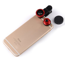 Newest 3 In 1HD Wide Angle Universal Clip Camera Mobile Phone Len FishEye Macro For Samsung S4 S5 Note2 for Iphone 4 5 6s plus