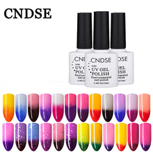 CNDSE Nail Polish Chameleon Sexy Sale Cheap Price Uv Gel Semi Permanent Nail Gel Chameleon Lacquer Gel Varnish Changing Color