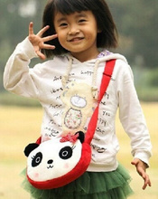 Kawaii SIZE 22*16CM Cartoon Panda Plush Backpack , Baby Kid's Kindergarten Plush Satchel Messenger BAG Plush Backpack