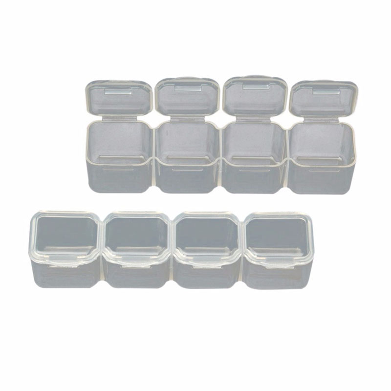 ONNPNNQ 28 Slots Clear Plastic Empty Storage Box Jewelry Nail Art Rhinestone Tools Display Storage Case Travel Organizer Holder2
