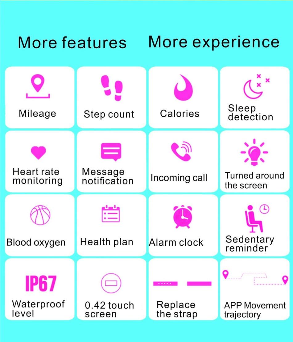 M4 Sport Waterproof Smart Band Bluetooth Bracelet Heart Rate Monitor wristband Pedometer step Activity Fitness Tracker Smartband