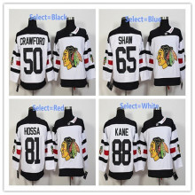 Hot sale Mens 50 Corey Crawford 65 Andrew ShawBlack 81 Marian Hossa White Home  100% Embroidery High Qualit Hockey Jers