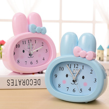 Brand New Children Toy Table Clock Cute Cartoon Rabbit Digital Desk Bunny Ears Alarm Clock Students Gift kids Mute Clock P5