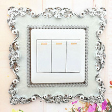 1Pc 5colors Modern 2017 New Brand  Home Switch Cover Square Shape Switch Wall Light Socket Stickers Room Decoration 508