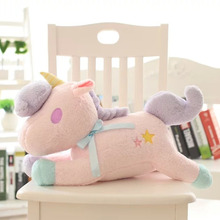 2017 Christmas New Arrival Hot 1 PC Cute Cartoon Unicorn Soft Plush Doll Toy Cute Animal Tissue With Box Kids Stuffed Toy(China)