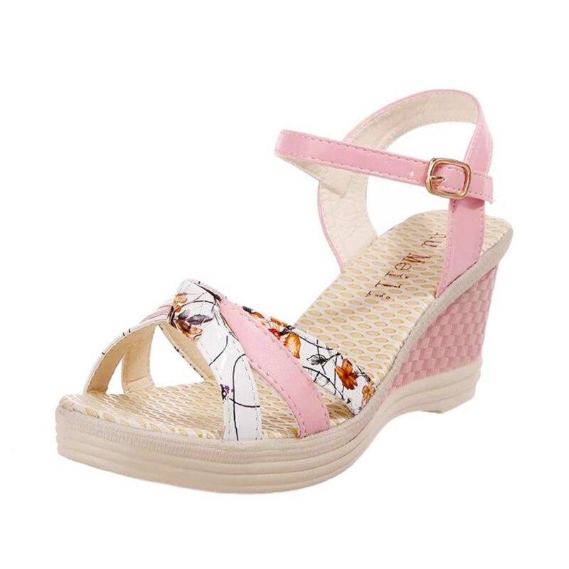 Ladies Women Wedges Shoes Summer Sandals Platform Toe High-Heeled Shoes O0530#3012