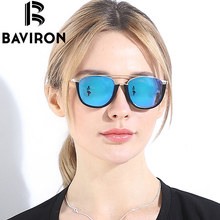 BAVIRON Hot Sale Brand Women Sunglasses Polarized Semi Rimless Frame Sun Glasses TR90 Aluminium High Quality Glasses Gafas 9026