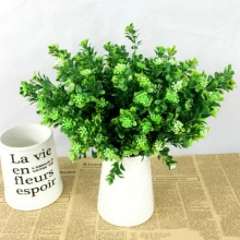 Eucalyptus Green Grass Artificial Plants For Plastic Flowers Household WeddingDecoration Plant with leaf Setting wall decoration