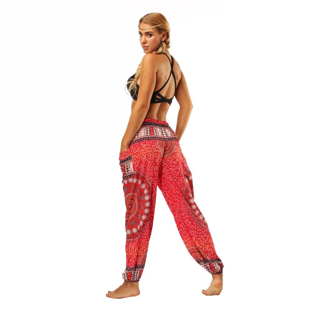 TL006- Red round circle wide leg loose yoga pant leggings (6)
