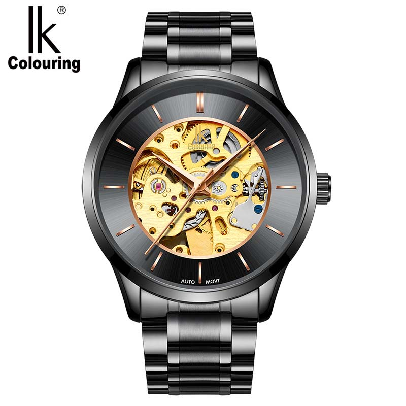mens wristwatch Automatic watch Classic Luxury Transparent Skeleton Mechanical Watches Brand Military Relogio Masculino<br>