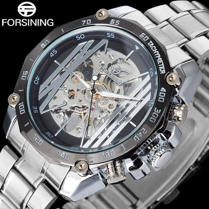 2017 FORSINING luxury brand men watches popular business Wristwatch auto mechanical skeleton luminous point  relogio masculino<br><br>Aliexpress