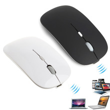 New2.4Ghz Wireless Mouse USB Rechargeable Silent Mute Slim Optical Mouse For Apple Laptop PC Computer