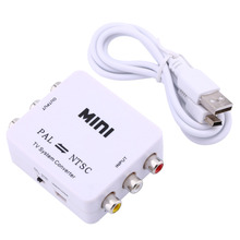 Mini Portable PAL to NTSC or NTSC TO PAL Bi-directional Dual-Way TV Format Video System Converter Composite Connection(China)