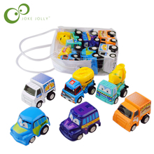 6 pcs/lot Pull Back Toys Car Children Racing Car Baby Learning & Education Toys Cartoon Mini Classic Model Cars Gifts(China)