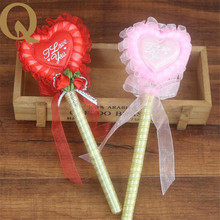 2017 creative wedding signature wedding celebration supplies guests wedding sign pen heart-shaped gold signature red pink