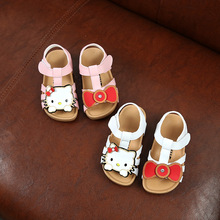 Lovely cartoon children summer shoes kids footwear girls hello kitty sandals dance shoes for girls(China)