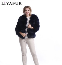 Buy Real Genuine Leather Natural Blue Fox Fur Coat Overcoat Jacket Luxury Russian Fur Coats Women Winter Warm Plus Size for $379.98 in AliExpress store