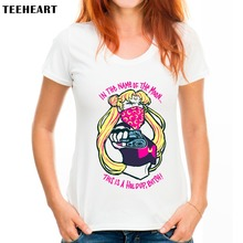 Buy TEEHEART Summer Fashion Loose Women's Cartoon Character Modal T-shirt HarajukuTops Casual Tops Q743 for $13.99 in AliExpress store