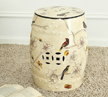 Free Shipping Home Footstool Ceramic America Country Style(China)