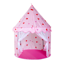 Portable Children's Tent for Kids Princess Castle Tent Kids Folding House for Girl Outdoor Children Play Game Xmas Gift(China)