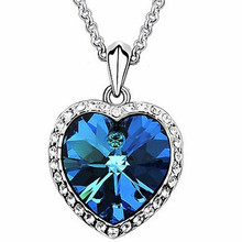 N373 Hot Sales New Parttern Fashion Heart Titanic Heart of Ocean Necklace Pendants Jewelry Accessories Free Shipping
