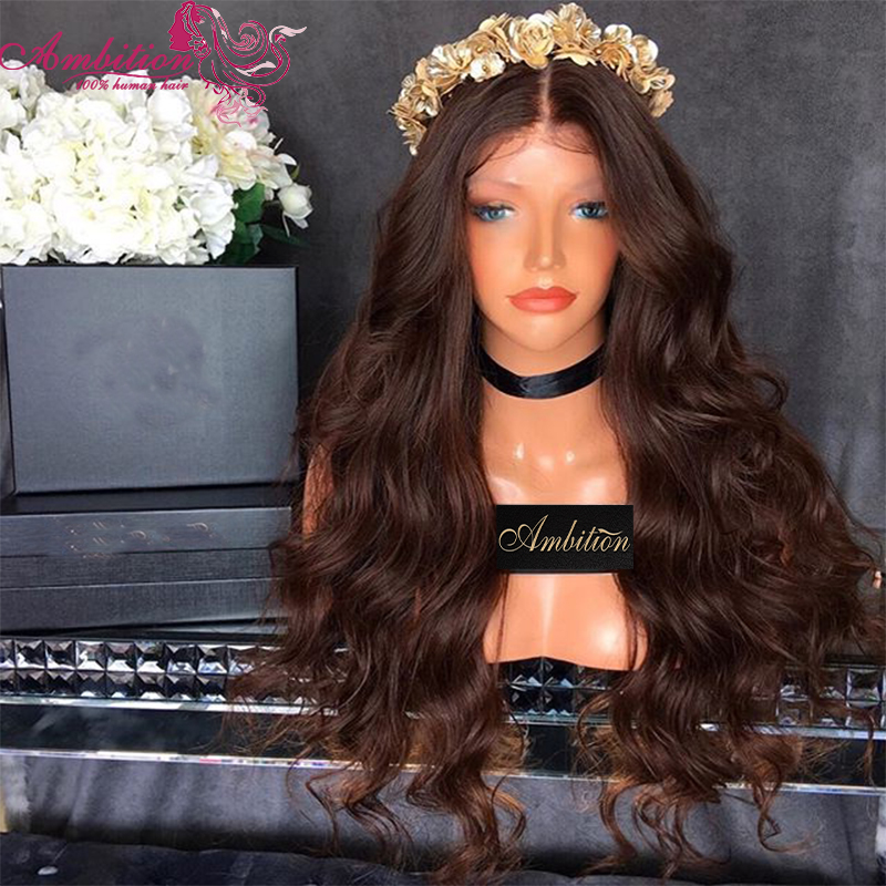 Full 180% Density Brazilian Virgin Human Lace Front Wigs Body Wave Human Hair Full Lace Wigs Natural Style with baby hair<br><br>Aliexpress
