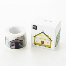 3CM Wide Creative Various Houses Pattern Washi Tape Adhesive Tape DIY Scrapbooking Sticker Label Masking Tape