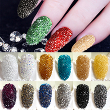 New Arrivals 5000Pcs/Box Wizard Beads Crystal Sand Nail Rhinestones Tiny Nail Beads Fingernails Rhinestone For Nails Accessories(China)