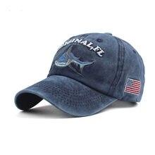 Animal Cap Wild Survival Casual Embroidery Shark LOGO Blue Baseball Hats  Washed Cotton Hat Men Women Snapback Hip Hop Caps 3ed5096ff416