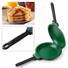 1PC Non-stick Flip Pan Ceramic Pancake Maker Cake Porcelain Frying Pan Nonstick Healthy General Use For Gas And Induction Cooker(China)