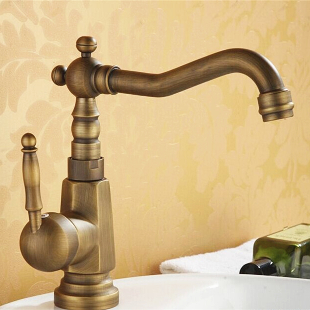 Free shipping hot sales antique bronze bathroom faucet,swan spout brass antique bathroom basin sink mixer faucet,torneiras,G3017<br><br>Aliexpress