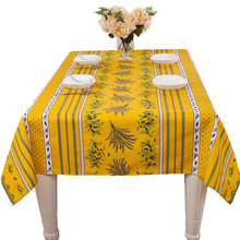 Pastoral yellow square table cloth cover rectangular cotton waterproof table cover cloth wedding party dinning room decoration