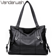 VANDERWAH Four arrows Lady Top-handle bags handbags women famous brands female Stitching casual Big shoulder bag Tote SAC A MAIN