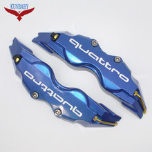 KUNBABY 4PCS Car Styling Disc Brake Quattro Caliper Cover Front Rear For AUDI A3 A4 A5 A6 A7 A8 S3 S4 S5 S6 Q3 Q5 Q7 TT R8 RS
