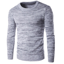 2017 Spring Autumn Winter Sweater Men Cotton Men Long Sleeve Sweater Australian Knitted Solid Grey Plus Size Xxl Pullover Hombre(China)
