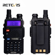 2Pcs Handheld Transceiver Retevis RT5R Walkie Talkie 5W Scan DTMF VHF/UHF Frequency Portable Radio Communicator Tool