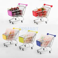 Mini Supermarket Shopping Cart Trolley Toy Phone Jewelry Holder Stand Mini Storage Cart(China)