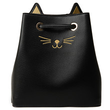 Women's Handbags Women Cute Cat Handbag  Purse Bolsa Feminina Ladies Messenger High Quality Drawstring Bags Clutch Shoulder Bag