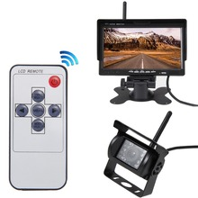 Wireless Truck Vehicle Backup Camera & 7 inch HD Monitor IR Night Vision Parking Assistance Waterproof Rear View Camera