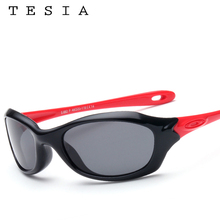 TESIA 2016 New Sunglasses Boys Girls Safety Glasses Polarized Kids Sunglasses Pink Color Patchwork Flexible Eyewear S882