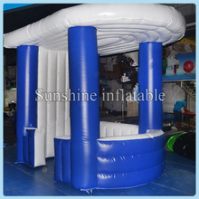 Blue inflatable bar tent,inflatable stand bar counter,inflatable serving bar for sale