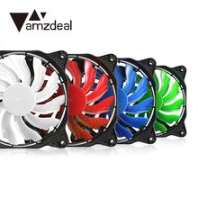 amzdeal Laptop Eclipse 120mm LED Fan Guide Ring Plastic DC 12V Red/Blue/Red/Green Light Connector Easy Installed Fan