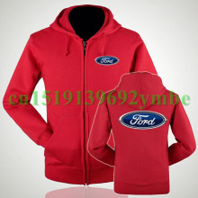 2 styles Women and men Ford logo zipper sweatshirts 4s shop sale plus velvet frock coat thick winter clothes logo