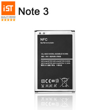 100% IST Original Mobile Phone Battery For Samsung Galaxy Note 3 N9000 N9005 N7200 Real 3200mAh High Quality Replacement Battery