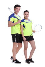 New breathable badminton wear sets Women/ Men , table tennis clothes , Gym Sportswear Quick Dry uniforms 1 set 1007(China)