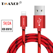 For Apple iphone 8 pin USB Cable 0.5m 1m 2m fast Charging Nylon Date Sync Cords For iphone se 5 6s 7 plus 6 plus ipod ipad Wire
