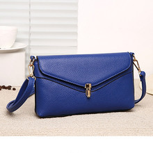 Fashion messenger bag women leather bags woman blue envelope clutch purse designer handbags women shoulder bag small