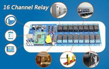 Industrial 16 Channel light controlling Relay board,Gate and door Network Remote Control Switch Module,TCP/IP Interface