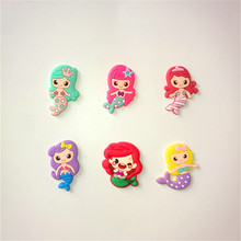 20pcs/lot Cute mermaid cartoon flatback DIY hair bow accessories shower decoration Center Crafts(China)
